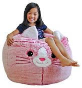 "36"" PINK CAT BEAN BAG CHAIR"